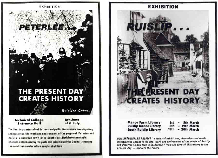 Peterlee and Ruislip Exhib Cards
